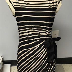 Taylor Black and Tan striped dress